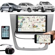 Multimídia Vw Gol Voyage Saveiro G5 2009 à 2013 Espelhamento Bluetooth USB SD Card + Moldura + Câmera Ré