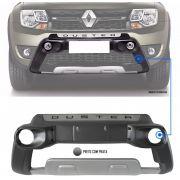 Overbumper Protetor Frontal TG Poli Renault Duster e Oroch 2015 2016 2017 2018 2019 2020 Com Alojamento Para Farol de Milha