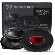 "Par Alto Falante Medio Grave Corneta Hurricane Pro MBC690 6x9"" 2 Vias 230W RMS 4 Ohms"