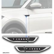 Par Emblema Adesivo Resinado Lateral Porta Vw T-Cross