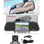 Retrovisor + Câmera de Ré Pioneer com Câmera Frontal VREC-200