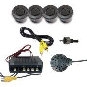 Sensor Estacionamento Sonoro Hurricane 4 Sensores - Preto