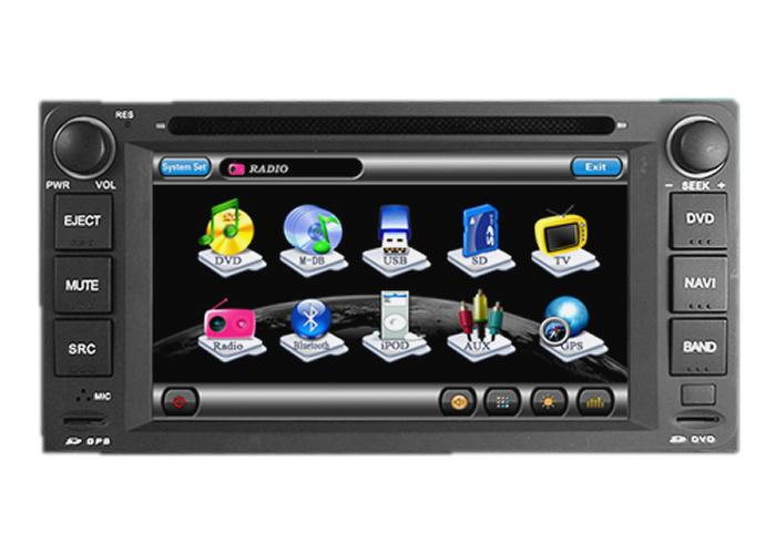 Central Multimidia Toyota Hilux e SW4 2005 á 2011 / Etios e Etios Sedan 2012 á 2015 - Corolla 2003 á 2008 Com DVD GPS Mapa Bluetooth MP3 USB Ipod SD Card Câmera Ré Grátis - Winca