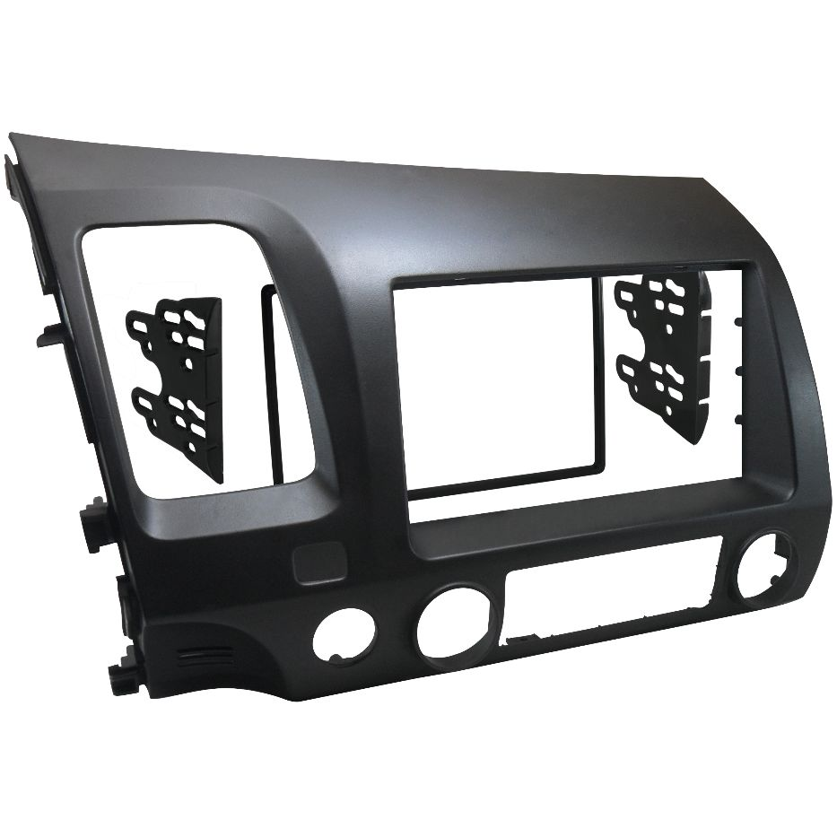 Moldura De Painel 2 Din Honda New Civic 2007 2008 2009 2010 2011 p/ CD DVD 2 Din