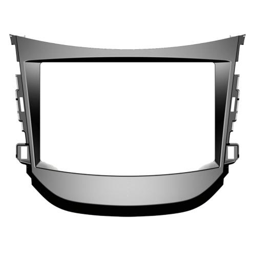Moldura De Painel 2 Din Para Hyundai HB20 Com Som Original De Fábrica - Adaptador Para Cd / Dvd Player