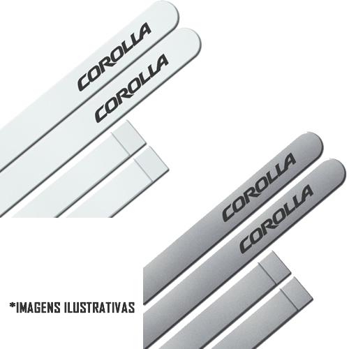 Jogo Friso Lateral Pintado Toyota Corolla 2009 á 2014 - Cor Original