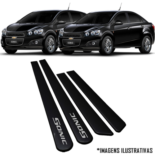 Jogo Friso Lateral Pintado Gm Chevrolet Sonic ( Hatch e Sedan ) 2012 2013 2014 - Cor Original