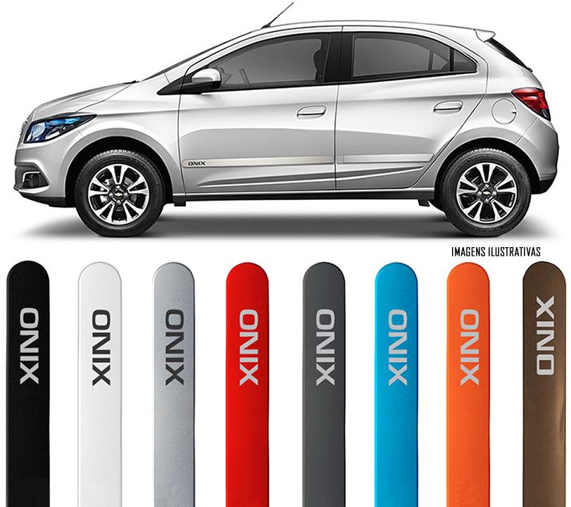 Jogo Friso Lateral Pintado Gm Chevrolet Onix 2012 2013 2014 2015 2016 2017 2018 - Cor Original