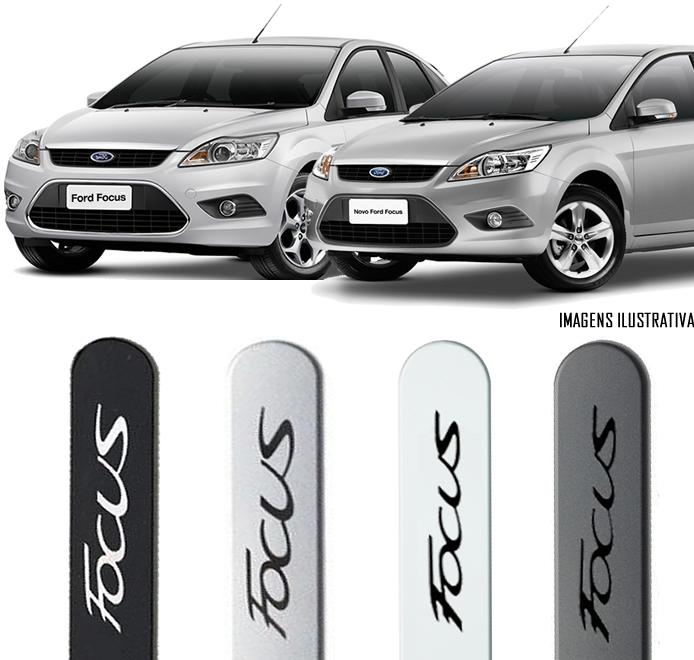Jogo Friso Lateral Pintado Ford Focus 2009 2010 2011 2012 2013 - Cor Original