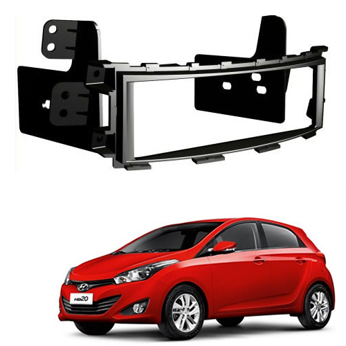 Moldura de Painel 1 Din Hyundai HB20 Para Cd Player e Dvd Player