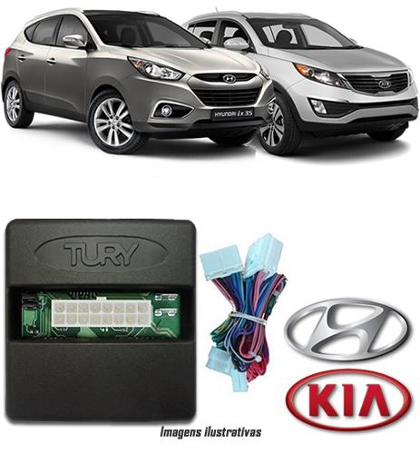 Módulo Original Subida De Vidro Tury Hyundai IX-35 Kia Nova Sportage até 2012 - Conector Original