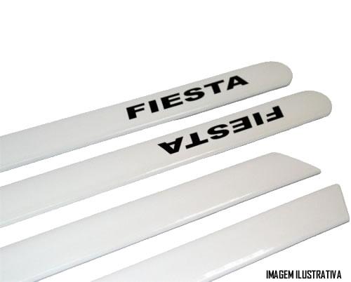 Jogo Friso Lateral Pintado Ford  Ford Fiesta Hatch / Sedan 2002 á 2014