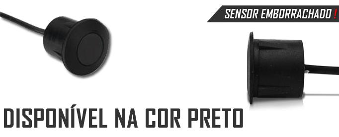 Sensor Estacionamento Emborrachado Cápsula De Borracha - 4 Pontos - Para Para-choque de ferro