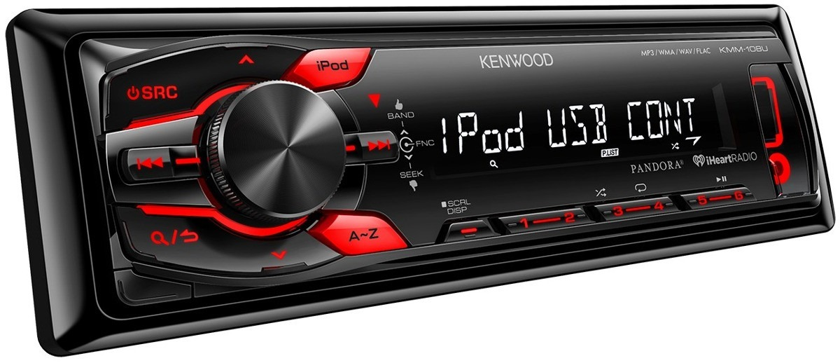 Rádio MP3 Player Automotivo Kenwood KMM-108U - Entrada Auxiliar, USB, MP3