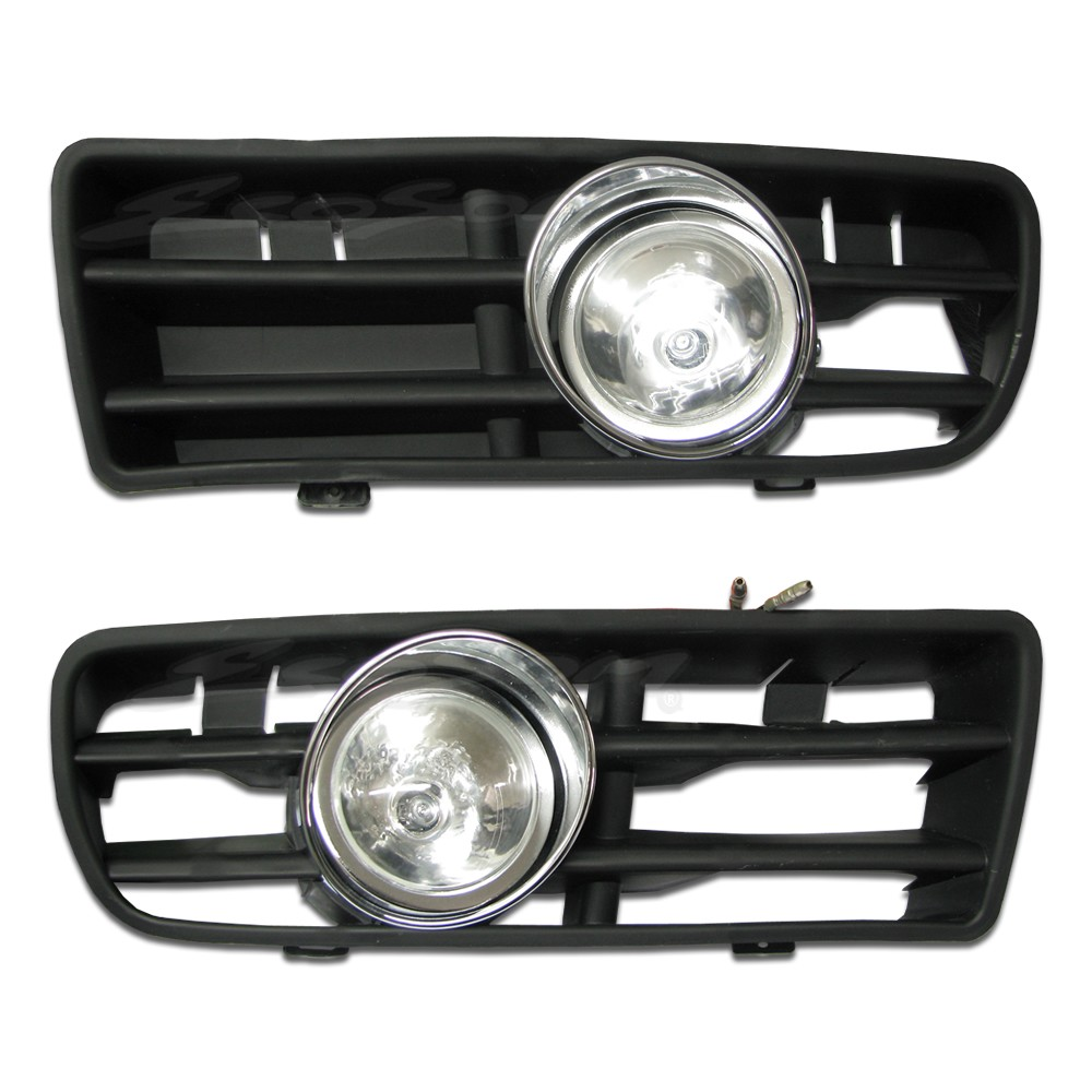 Kit Farol de Milha Neblina Vw Golf 1999 á 2006 - Interruptor Alternativo + Molduras