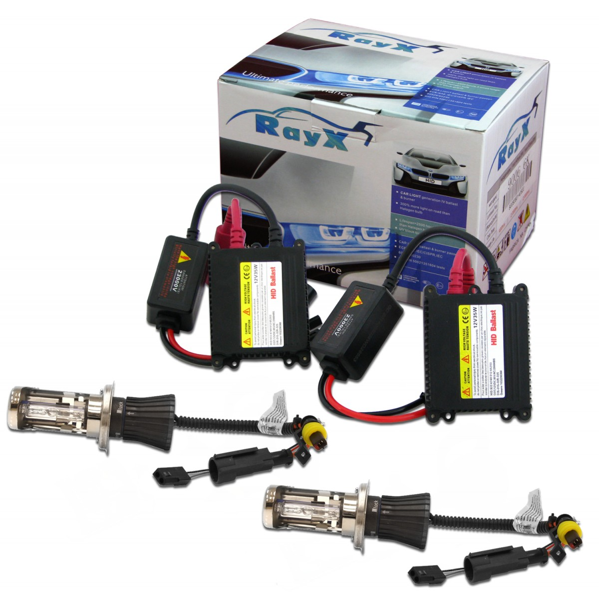 Kit Xenon H4 Bi-Xenon 6000K Com Reator Digital HID
