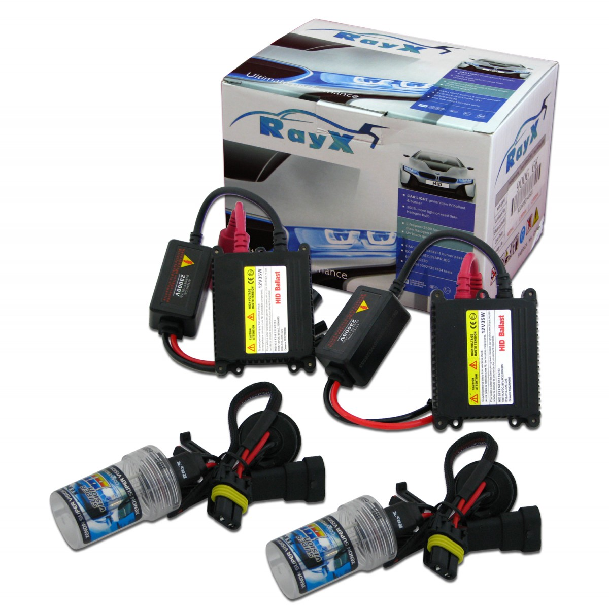 Kit Xenon H27 8000K Com Reator Digital HID