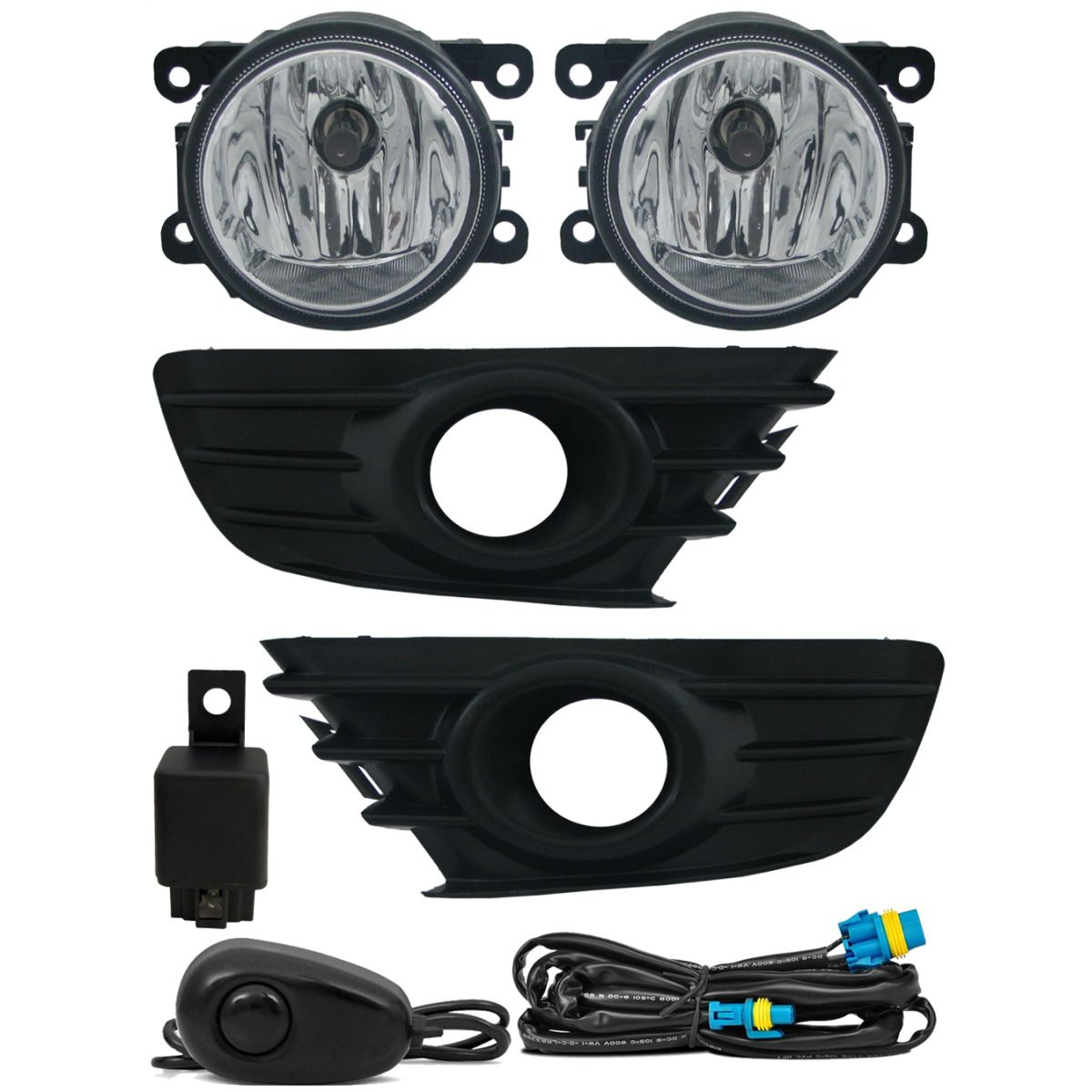 Kit Farol de Milha Neblina Citroen C4 Hatch 2009 2010 2011 2012 e C4 Pallas 2007 2008 2009 2010 2011 2012 - Interruptor Alternativo + Kit Xenon H8 Com Reator Digital -  6000K ou 8000K