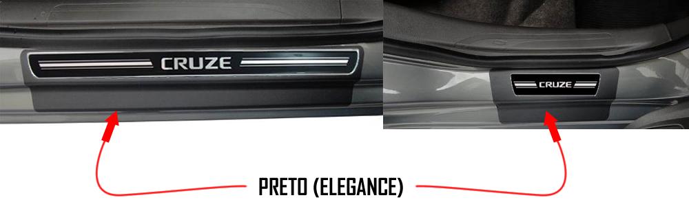 Jogo Soleira Premium Elegance Gm Cruze 2011 á 2014 - 4 Portas ( Vinil + Resinada 8 Peças )