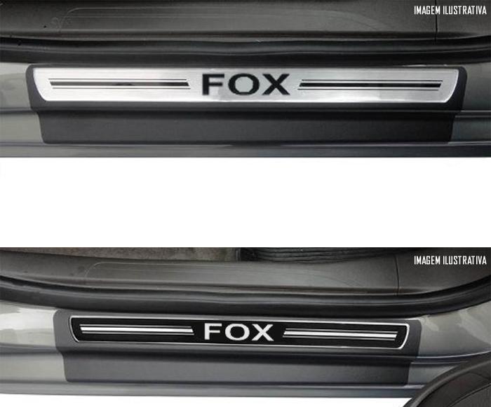 Jogo Soleira Premium Elegance Vw Fox 2003 á 2015 - ( Vinil + Resinada 4 Peças )