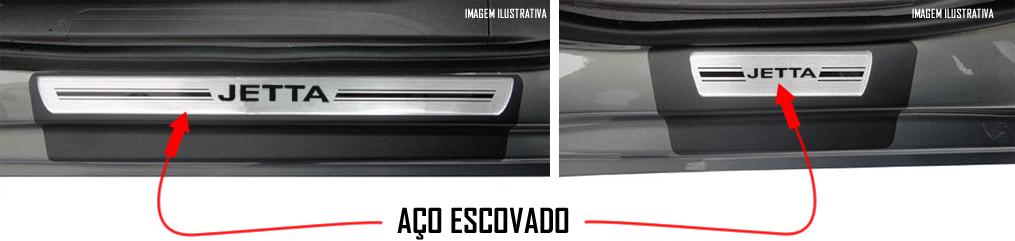 Jogo Soleira Premium Elegance Vw Jetta 2011 2012 2013 2014 - ( Vinil + Resinada 4 Peças )