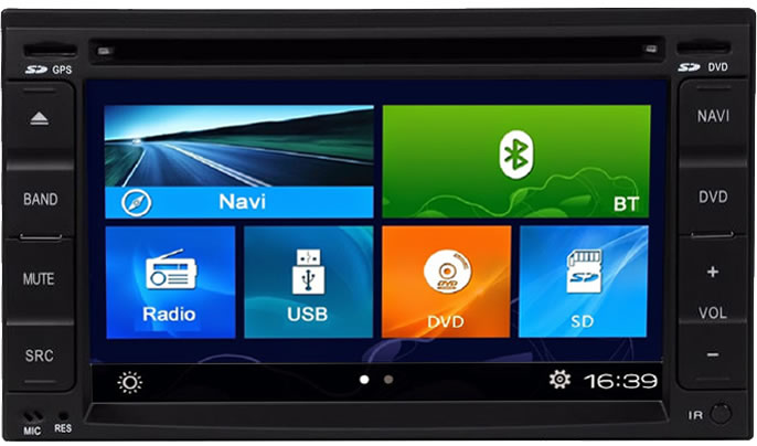 Central Multimidia Mitsubishi TR4 2010 á 2014, Pajero Sport 2002 á 2007 Com DVD GPS Mapa Bluetooth MP3 USB Ipod SD Card Câmera Ré Grátis - Winca