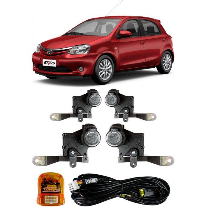 Kit Trava Eletrica Tragial Toyota Etios 2013 2014 2015 -  Mono Serventia 4 Portas