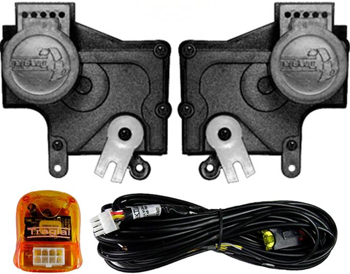Kit Trava Eletrica Tragial  Palio / Novo Uno / Strada / Celta / Novo Ka / Doblo - Mono Serventia 2 Portas