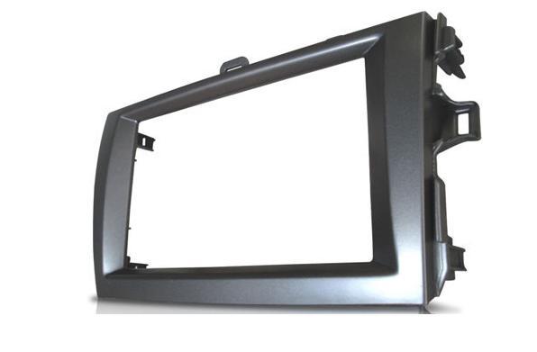Moldura De Painel 2 Din Toyota Corolla 2009 á 2013 Para CD DVD 2 Dins - Padrão Original + Conector + Interface volante