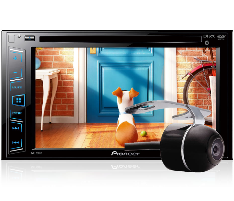 "DVD Player Automotivo 2 DIN Pioneer AVH-298BT Tela 6,2"" - Bluetooth Com Entrada USB"