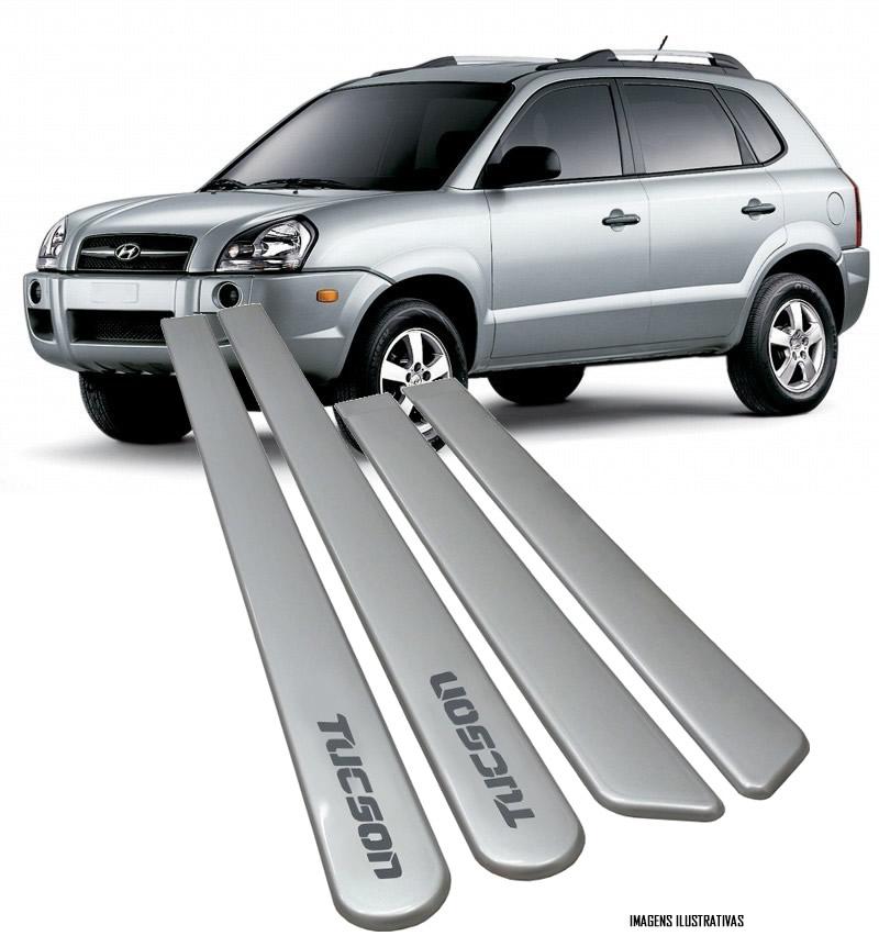 Jogo Friso Lateral Pintado Hyundai Tucson 2007 2008 2009 2010 2011 2012 2013 2014 - Cor Original