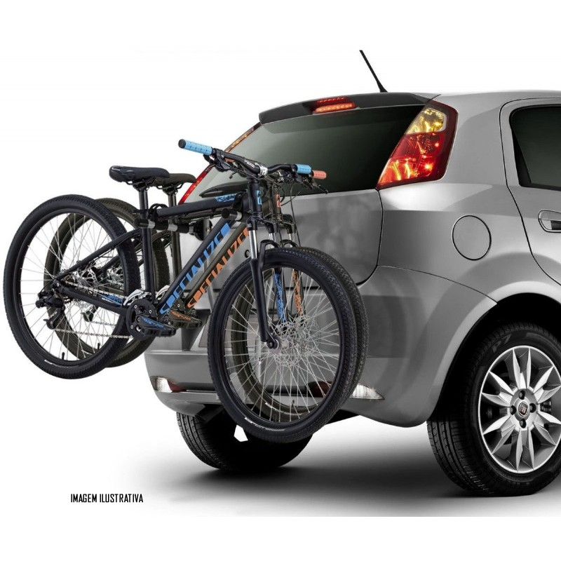 Suporte De Bicicleta Para Engate Kiussi Monviso - 3 Bicicletas - Bike -  Preto