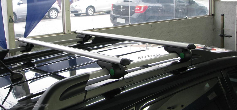 Rack Travessa Hyundai Tucson 2006 2007 2008 2009 2010 2011 2012 2013 2014 2015 - Kiussi Belluno 117cm Alumínio Com Chave 50KG - Preto / Prata