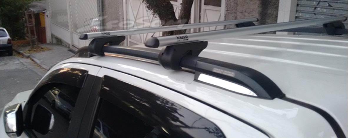 Rack Travessa Chevrolet Nova S10 2012 2013 2014 2015 2016 Com Longarina - Kiussi Belluno XL 130cm Alumínio Com Chave 50KG - Preto / Prata