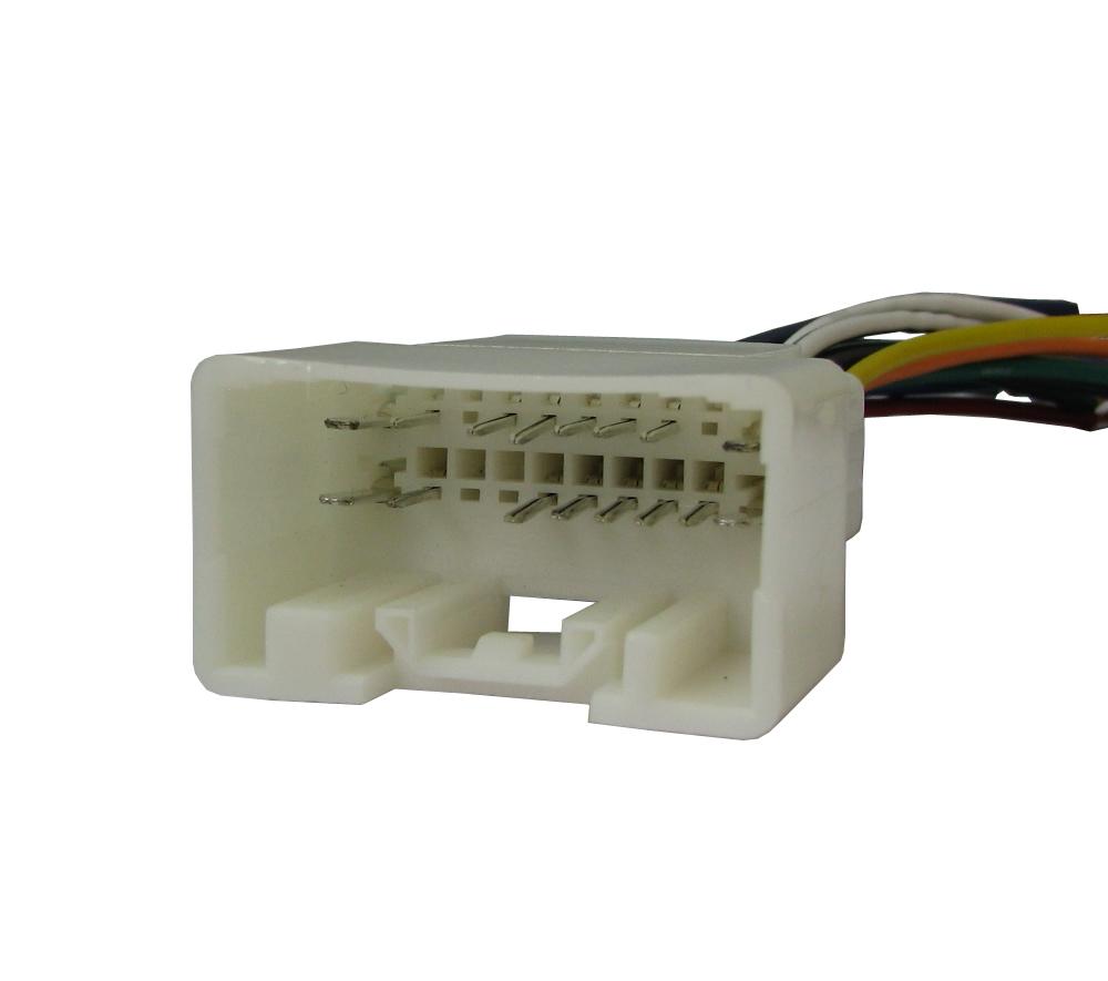 Kit Instalação Moldura De Painel 2 Din - Mitsubishi Outlander 2008 2009 2010 2011 2012 Para CD DVD 2 Dins - Padrão Original + Conector + Interface Comando de Volante Eatech Mini-SWC Wire - IR