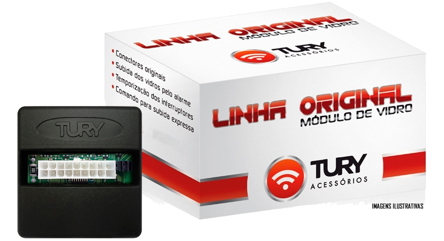 Módulo Original Subida De Vidro Tury Toyota Etios 2012 2013 2014 - Conector Original - LVX10AT