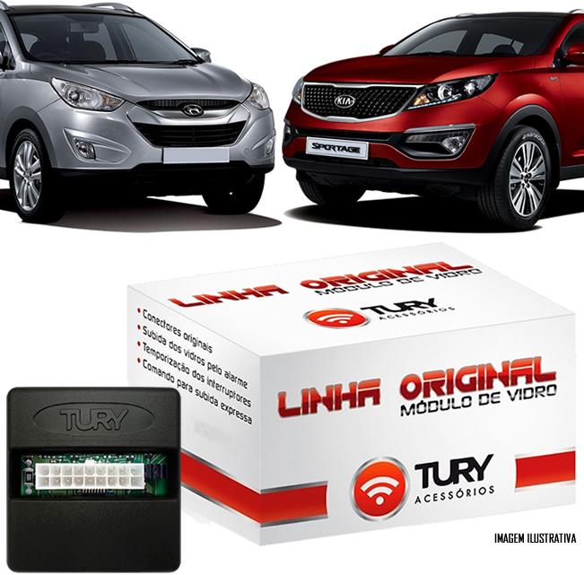Módulo Original Subida De Vidro Tury Hyundai IX35-  2010 2011 2012 2013 2014 2015  Kia Sportage 2013 2014 2015 - Conector Original - LVX10+Q