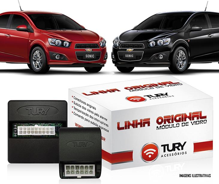 Módulo Original Subida De Vidro Tury Chevrolet Sonic 2012 2013 2014 - Conector Original - KIT SONIC