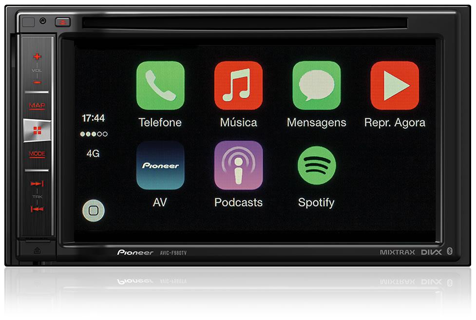 """Central Multimídia Pioneer 2 Din AVIC-F980TV Tela 6,2"""" Polegadas Com TV Digital, GPS, Bluetooth Entrada USB Mixtrax + 2 Encosto de Cabeça AV + Câmera Ré Grátis"""