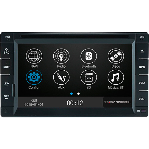 Central Multimidia Universal  Hyundai Tucson 2007 Á 2016 Com DVD GPS Mapa Bluetooth MP3 USB SD Card Câmera Ré Grátis - Tay Tech