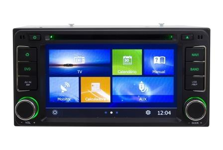 Central Multimidia Toyota Corolla 2015 2016 2017 GLI Com DVD GPS Mapa Bluetooth MP3 USB Ipod SD Card Câmera Ré Grátis - Winca