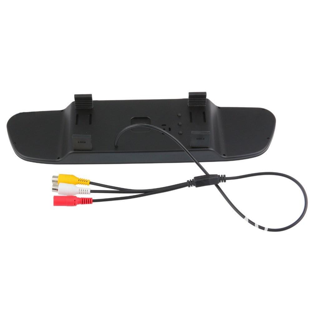 Kit Espelho Retrovisor Monitor Tela LCD 4.3 + Câmera Ré