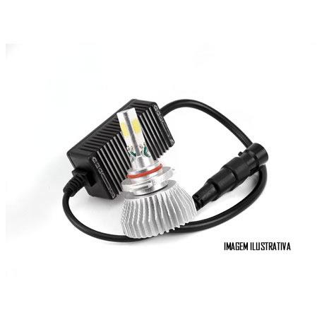 Kit Lâmpada Super LED 3D Headlight H4 6000K 3600LM Efeito Xenon