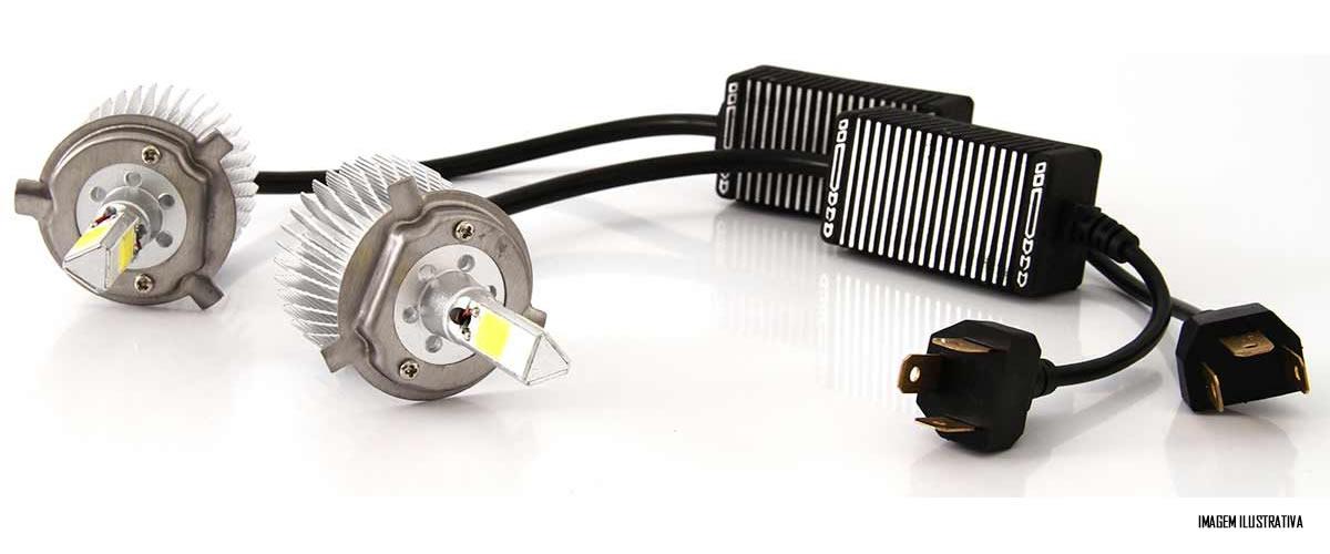 Kit Lâmpada Super LED 3D Headlight H11 6000K 3600LM Efeito Xenon