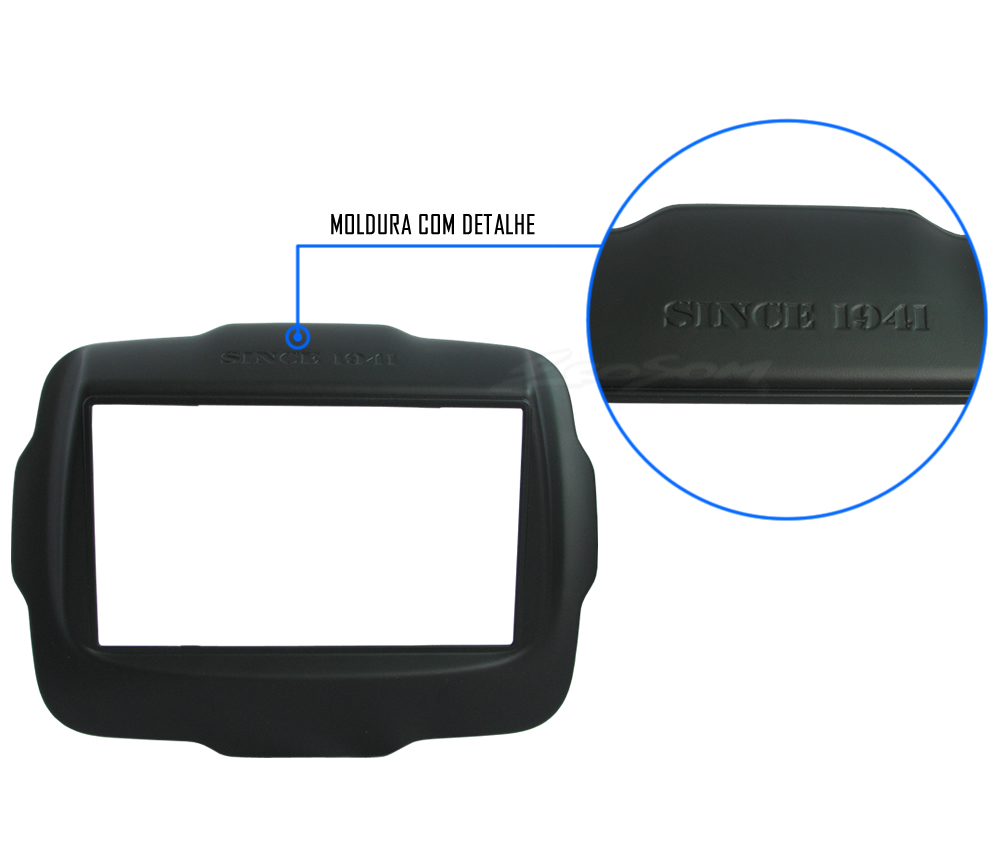 Kit Combo DVD Pioneer AVH-A208BT + Moldura de Painel 2 Din + Câmera de Ré Jeep Renegade 2015 2016 2017