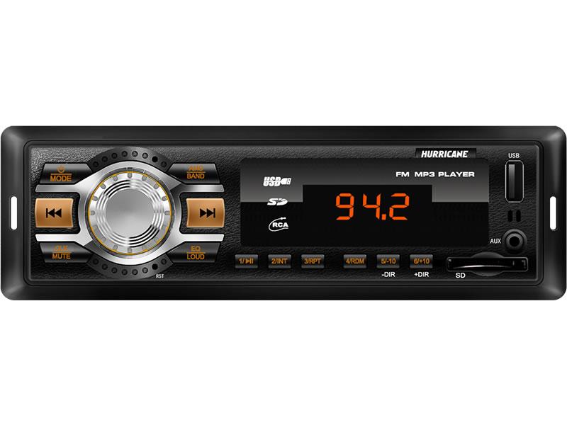 MP3 Player Hurricane HR 412 com Entrada USB, Entrada Auxiliar e Entrada Cartão de Memória