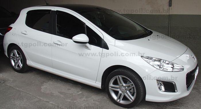 Calha Chuva Defletor TG Poli Peugeot 308 Hatch 2012 2013 2014 2015 2016 2017 2018 2019 - 4 Portas