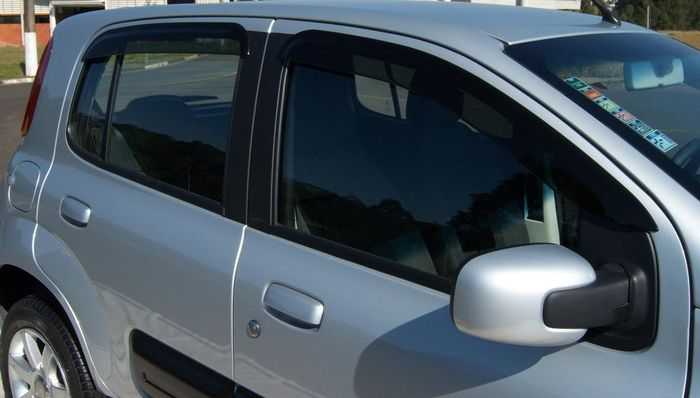 Calha Chuva Defletor TG Poli Fiat Novo Uno Evo 2010 2011 2012 2013 2014 2015 2016 2017 - 4 Portas