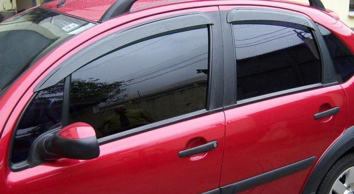 Calha Chuva Defletor TG Poli Citroen C3 2003 2004 2005 2006 2007 2008 2009 2010 2011 2012 - 4 Portas