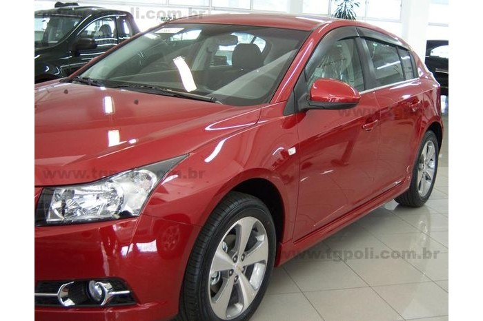 Calha Chuva Defletor TG Poli GM Cruze Hatch 2011 2012 2013 2014 2015 2016 - 4 Portas